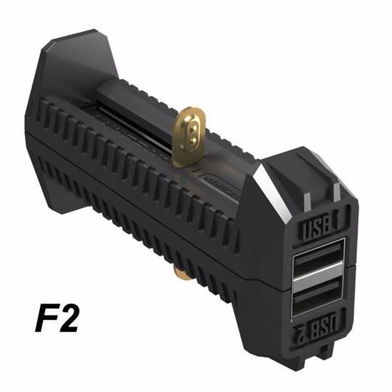 Nitecore F2 dual slot charger/battery pack