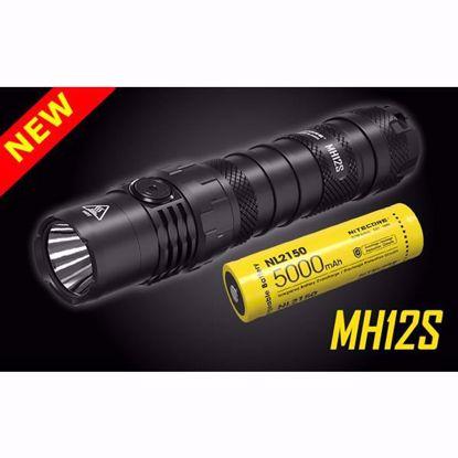 Nitecore MH12S 1800 Lumen USB-C Rechargeable Flashlight w/NL2150 5,000 mAh 21700 battery